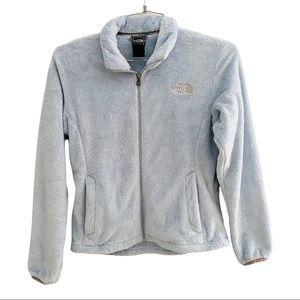 The North Face Plush Light Blue Zip Jacket Size S